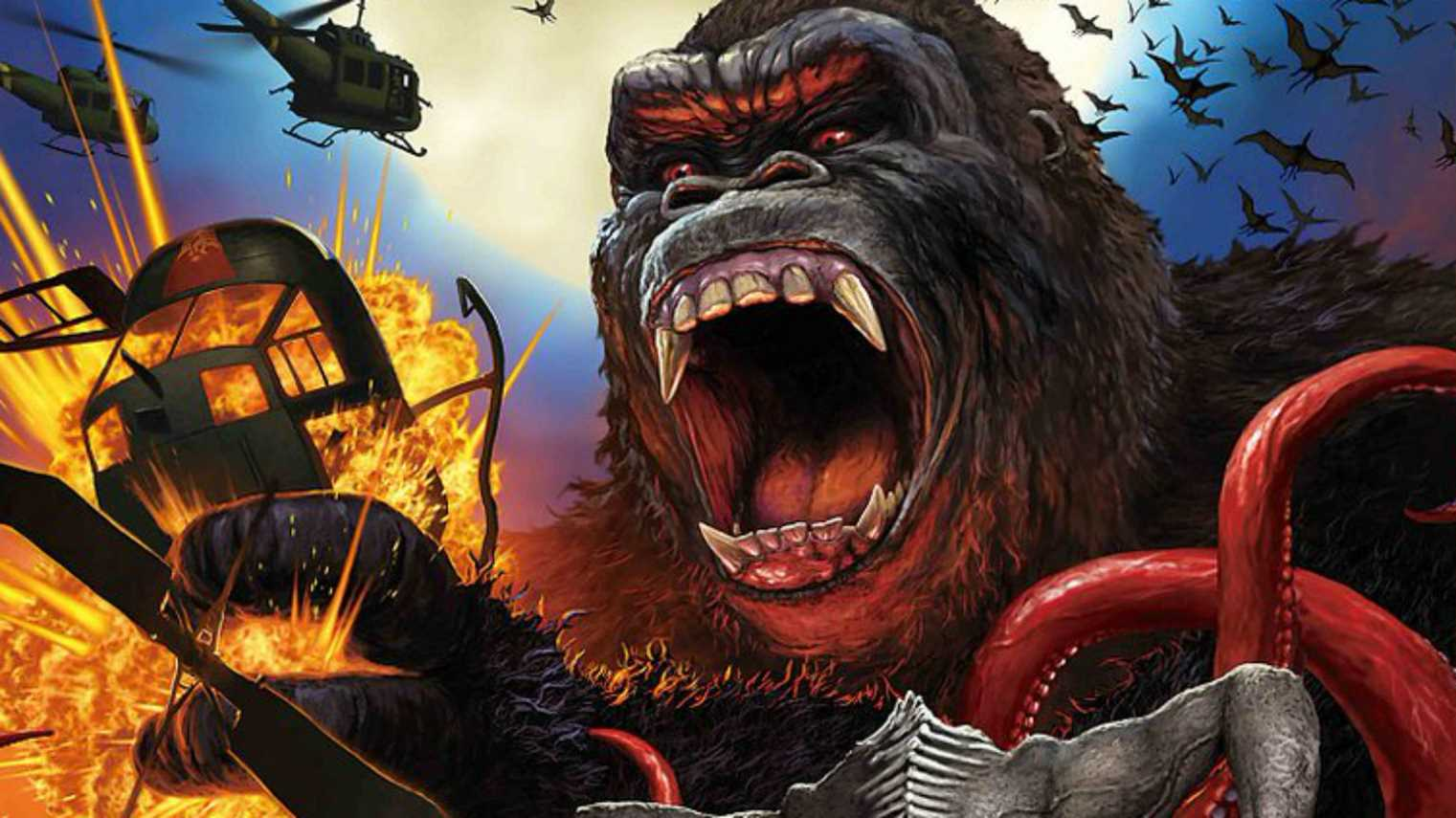 Have you seen this crazy Japanese poster for Kong: Skull Island?