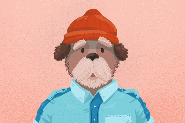 Wes Anderson dog (Steve Zissou from Life Aquatic)