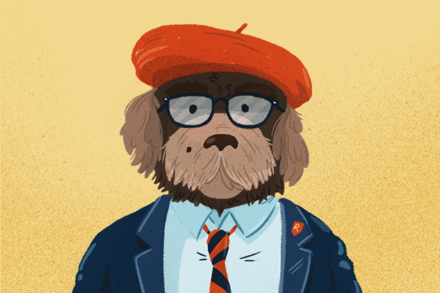 Wes Anderson dog (Max Fischer from Rushmore)